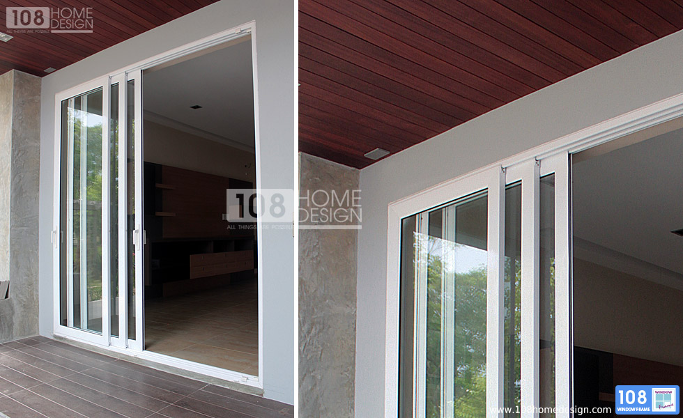 Casement awning and fixed windows and doors 108 for Multi track sliding doors